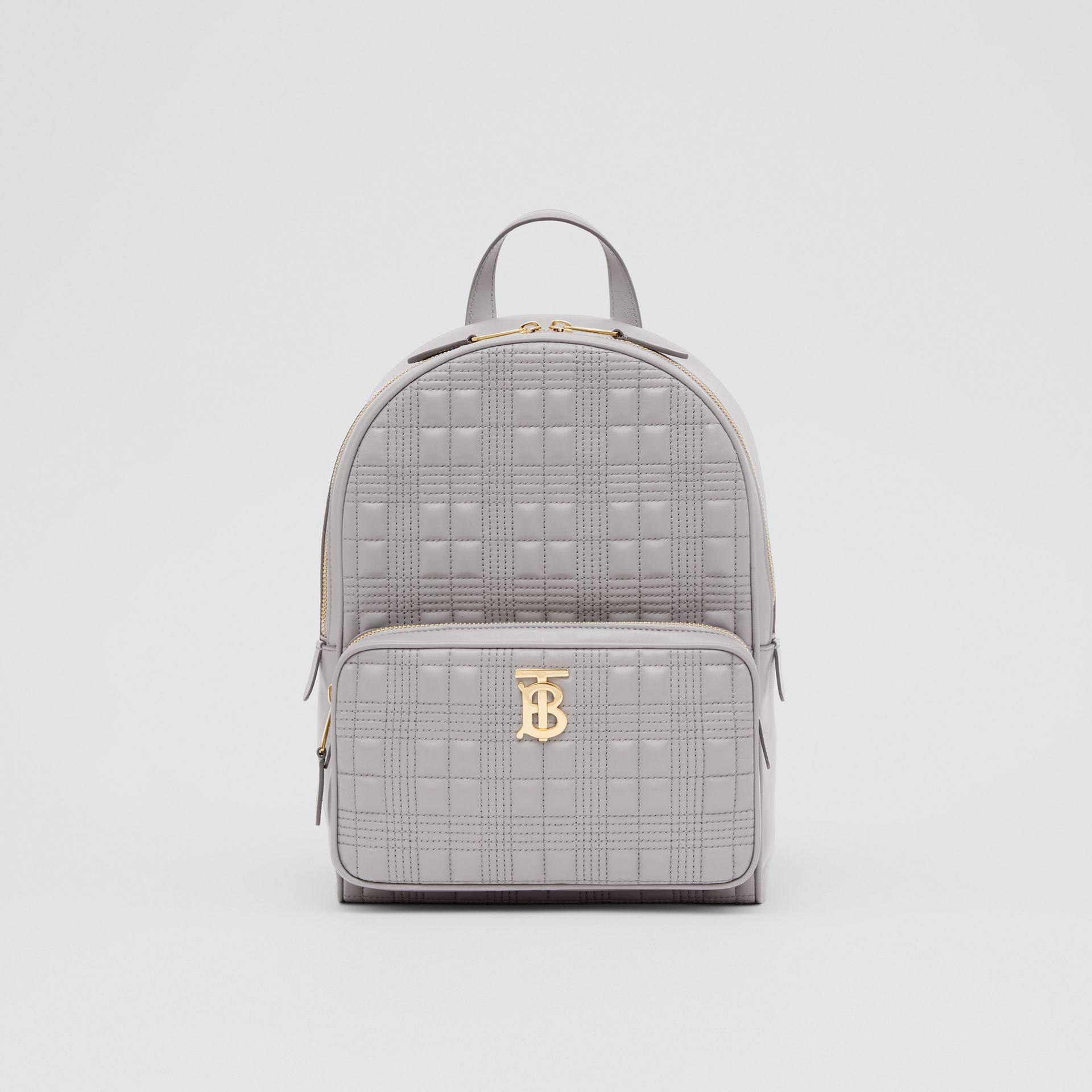 Quilted Lambskin Backpack in Cloud Grey - Women | Burberry United States - gallery image 0