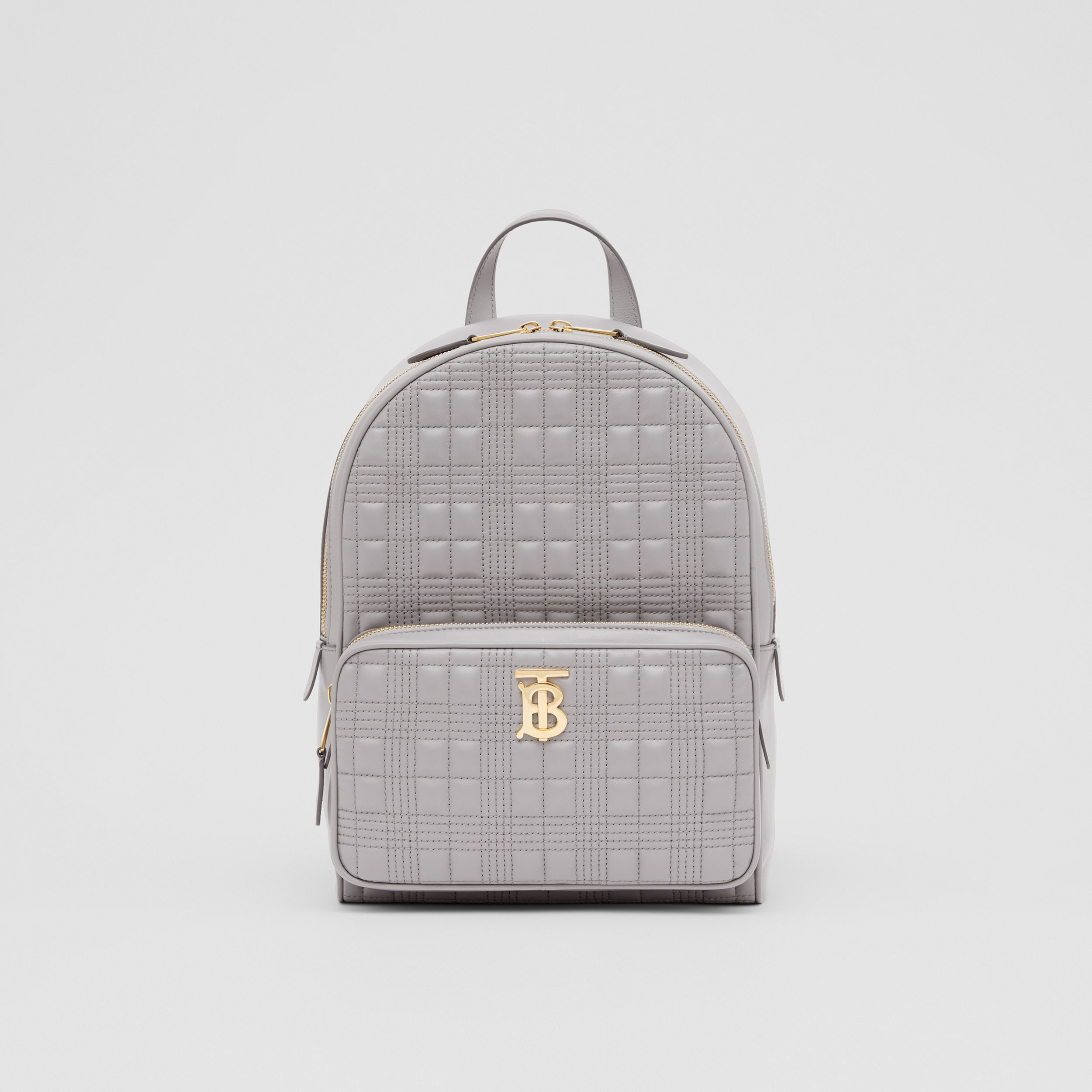 Quilted Lambskin Backpack in Cloud Grey - Women | Burberry - 1