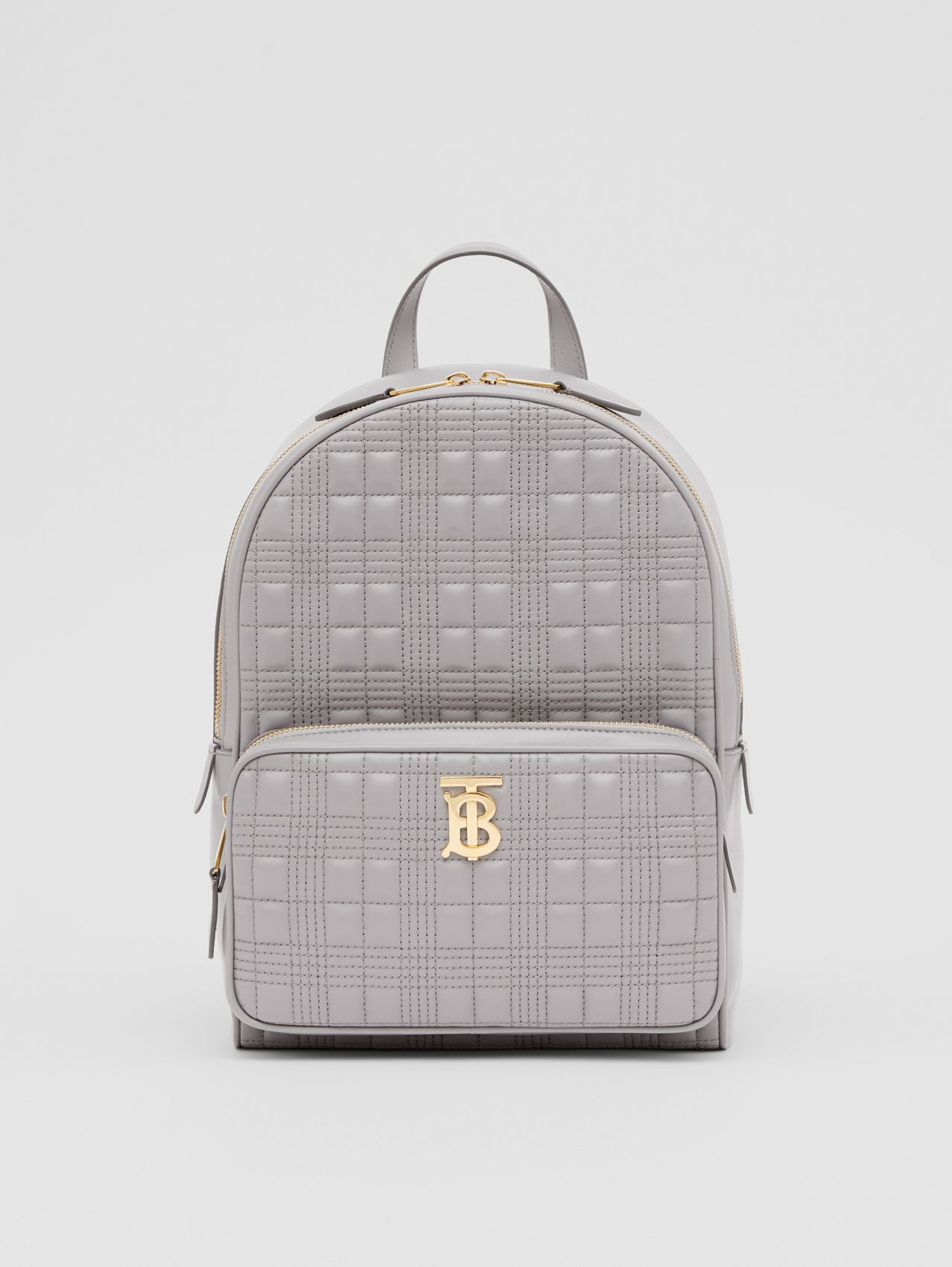 Quilted Lambskin Backpack in Cloud Grey