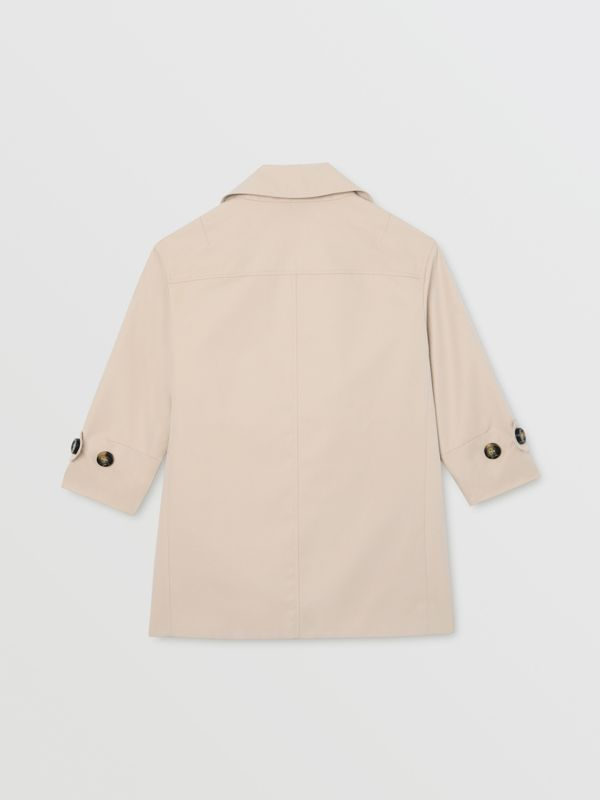 Horseferry Print Cotton Gabardine Trench Coat in Stone | Burberry - cell image 3
