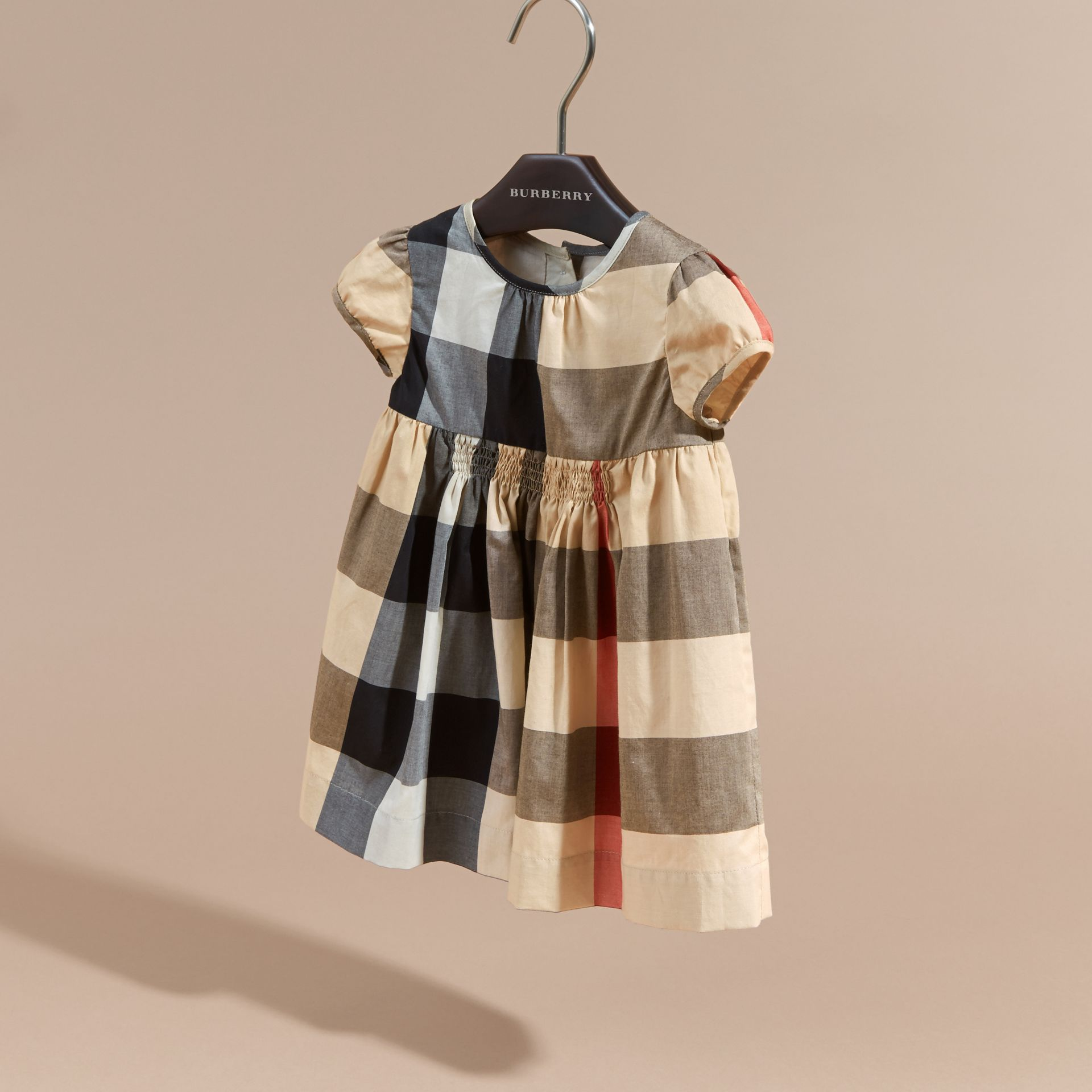 Cap-sleeved Check Cotton Voile Dress New Classic - gallery image 3