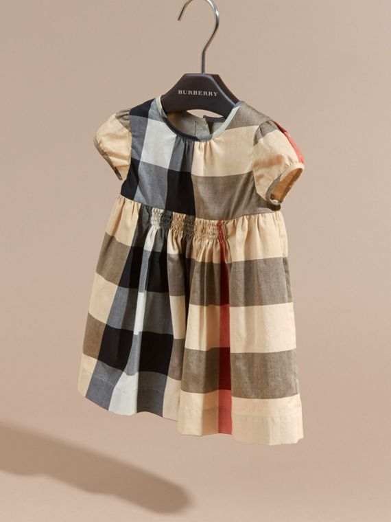 Cap-sleeved Check Cotton Voile Dress New Classic - cell image 2