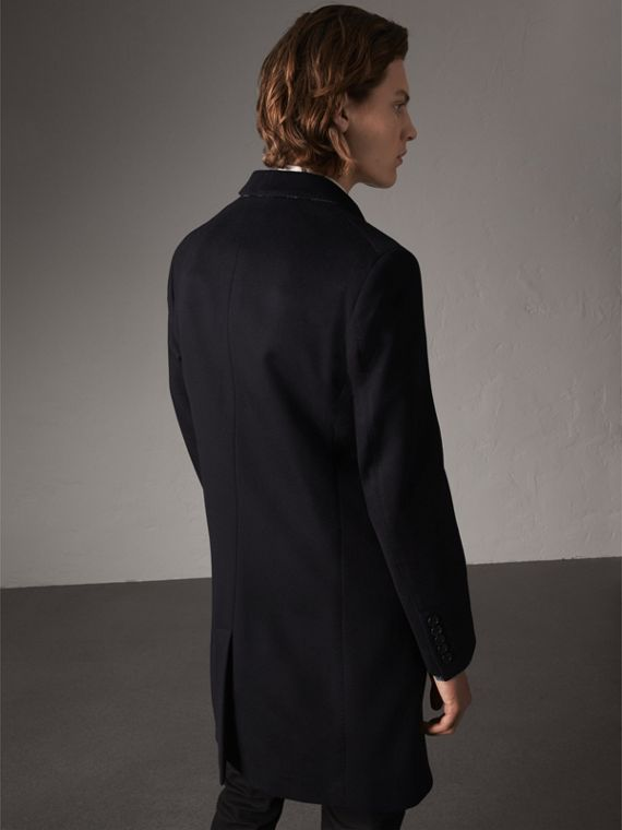 Wool Cashmere Tailored Coat in Navy - Men | Burberry United States - cell image 2