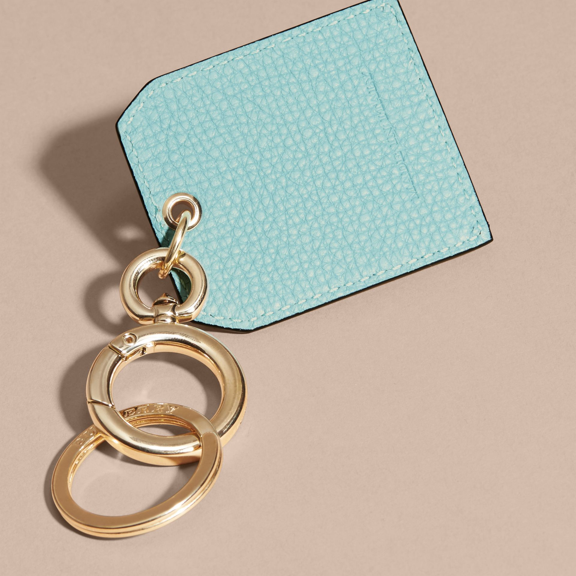 Grainy Leather Key Charm in Pale Opal - Women | Burberry - gallery image 4