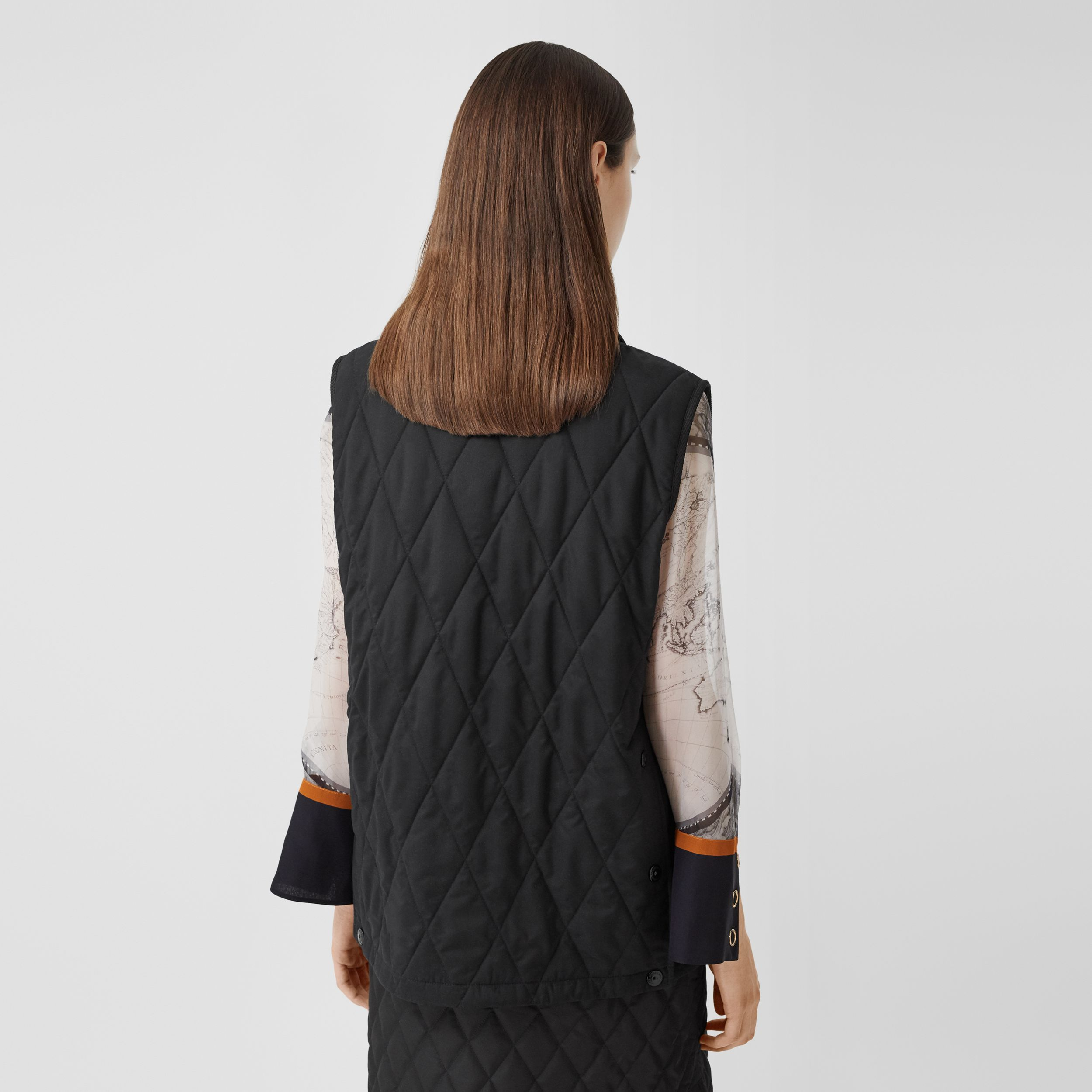 Diamond Quilted Gilet in Black - Women | Burberry - 3