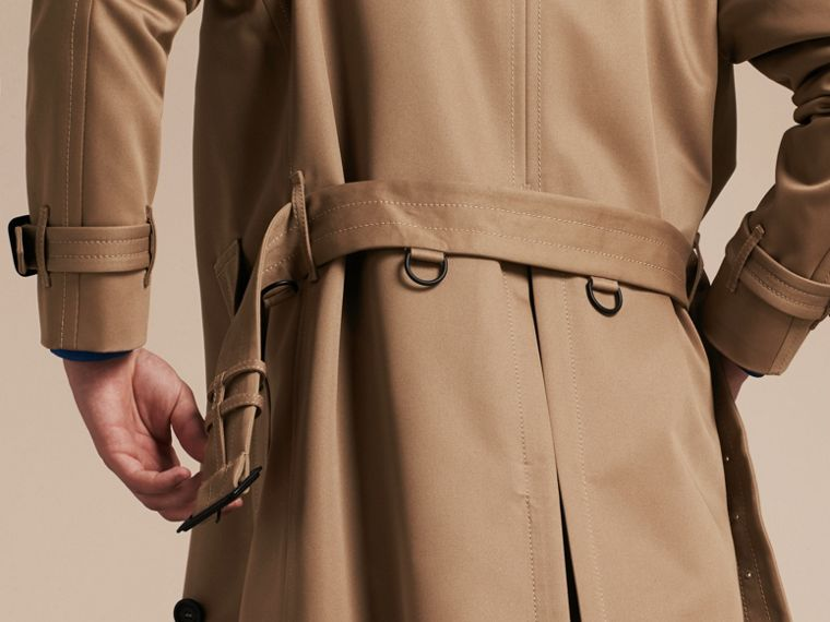 Light taupe brown Raglan-sleeved Cotton Trench Coat - cell image 1