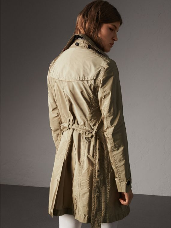 Taffeta Trench Coat with Detachable Hood in Sisal - Women | Burberry United Kingdom - cell image 2