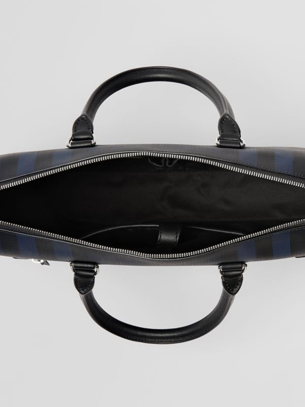 London Check and Leather Briefcase in Navy/black - Men | Burberry Singapore - cell image 3