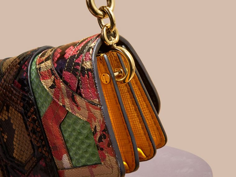 The Small Buckle Bag in Snakeskin and Floral Print - cell image 1