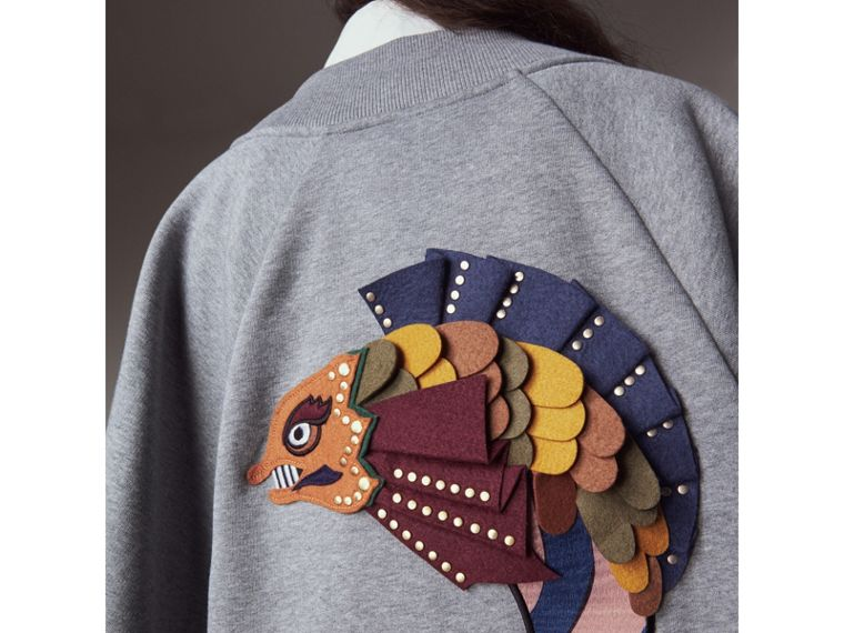 Beasts Appliqué Sweatshirt Cape - Women | Burberry - cell image 1