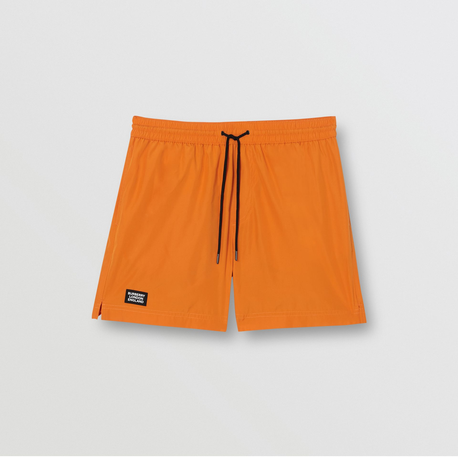 Logo Detail Drawcord Swim Shorts in Bright Orange - Men | Burberry United Kingdom - gallery image 2