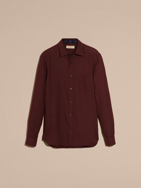 Dark elderberry Check Detail Cotton Flannel Shirt Dark Elderberry - cell image 3