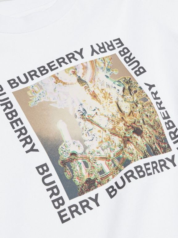 Chandelier Print Cotton T-shirt in White | Burberry - cell image 1