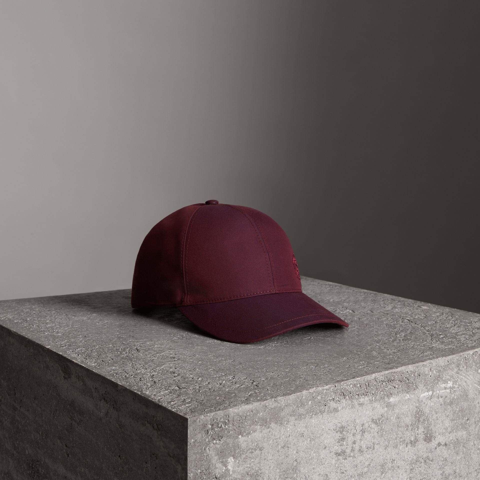 Archive Logo Baseball Cap in Boysenberry | Burberry - gallery image 0