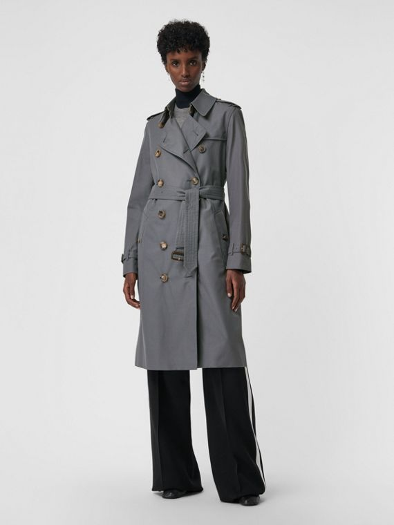 The Kensington – Trench Heritage long (Gris Moyen)