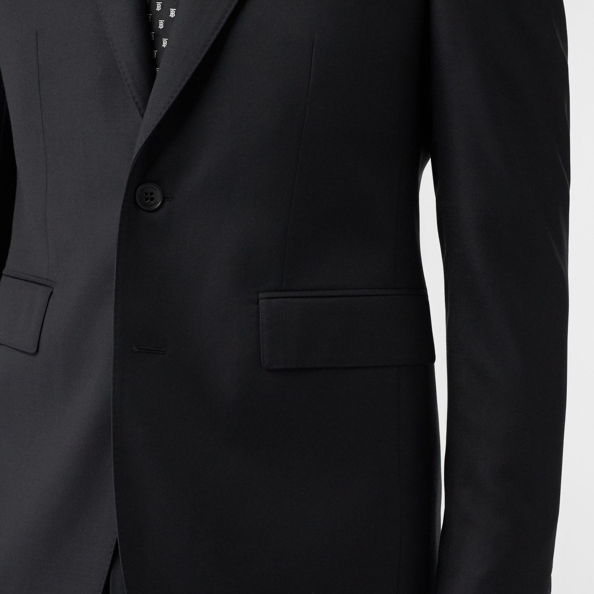 Classic Fit Wool Suit in Black - Men | Burberry United Kingdom - gallery image 4