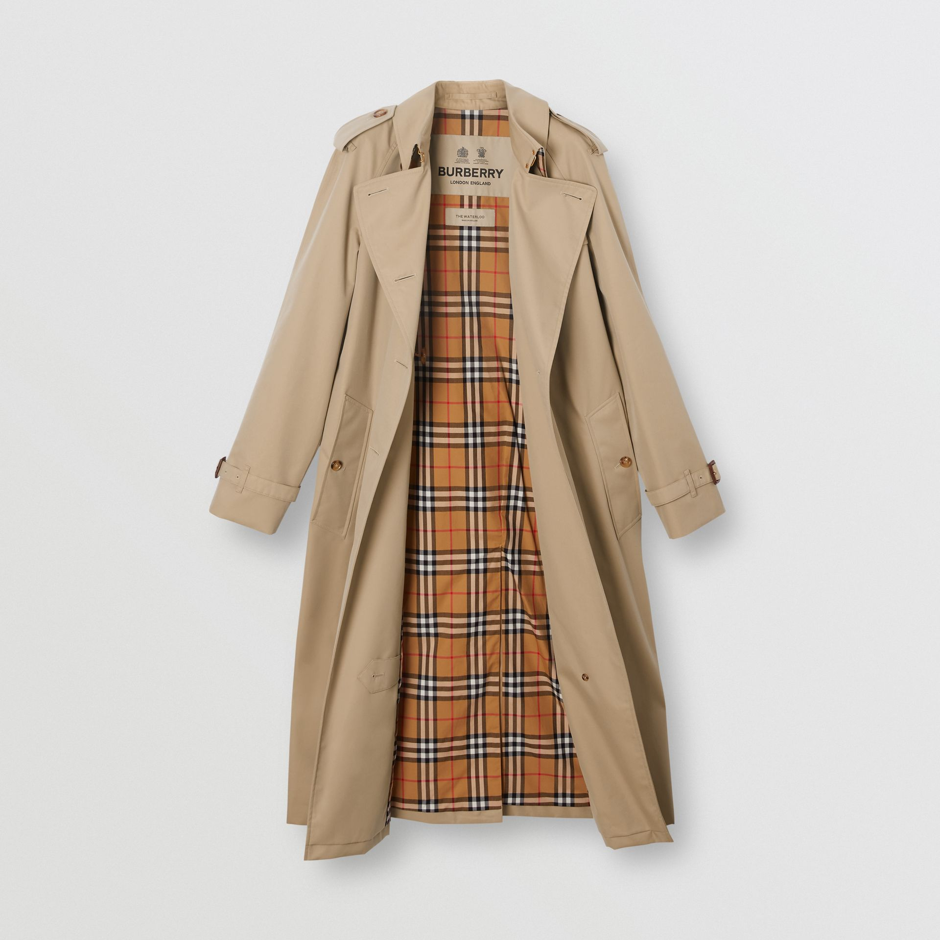 The Waterloo Trench Coat in Honey - Women | Burberry - gallery image 8