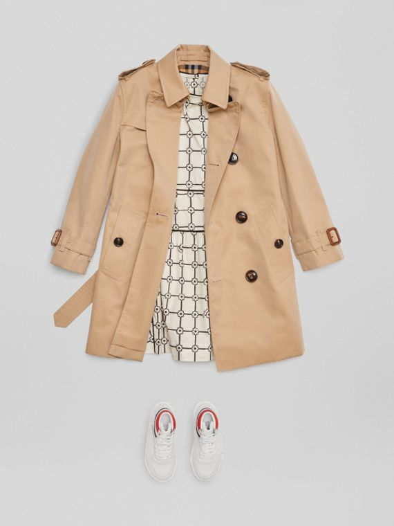 Trench coat in gabardine di cotone (Miele)