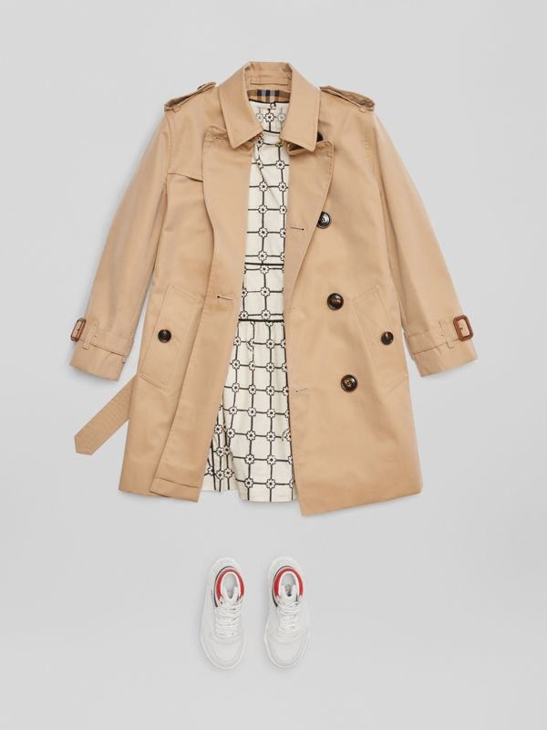 Trench coat in gabardine di cotone (Miele) | Burberry - cell image 2