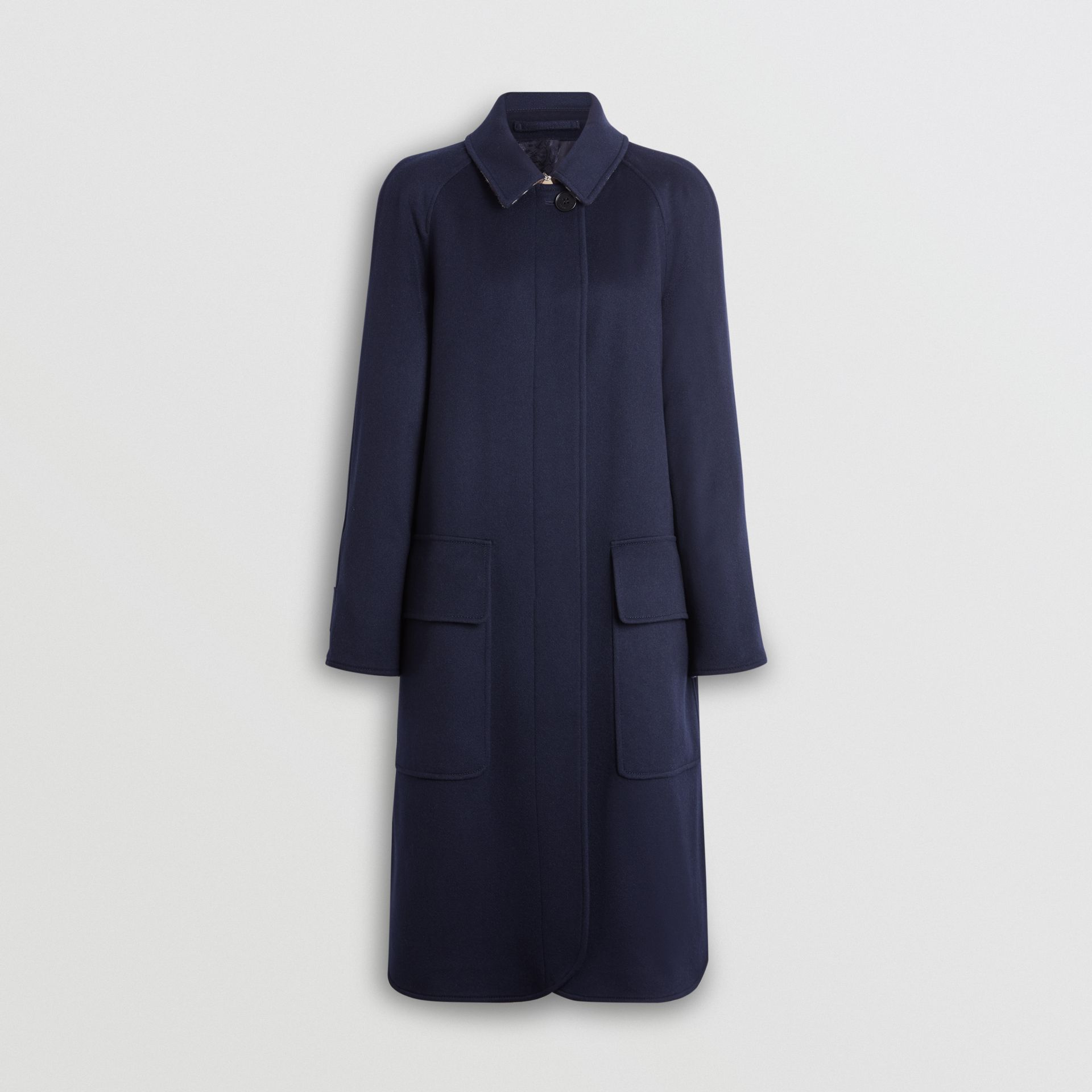 Cashmere Car Coat in Dark Ink Blue - Women | Burberry United Kingdom - gallery image 3