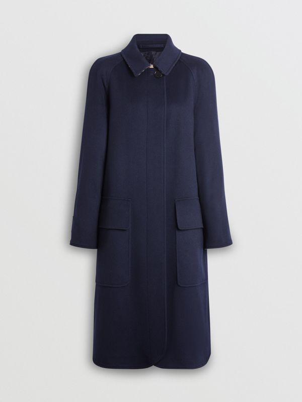Cashmere Car Coat in Dark Ink Blue - Women | Burberry - cell image 3
