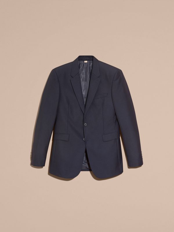Modern Fit Wool Part-canvas Jacket in Navy - Men | Burberry United States - cell image 3