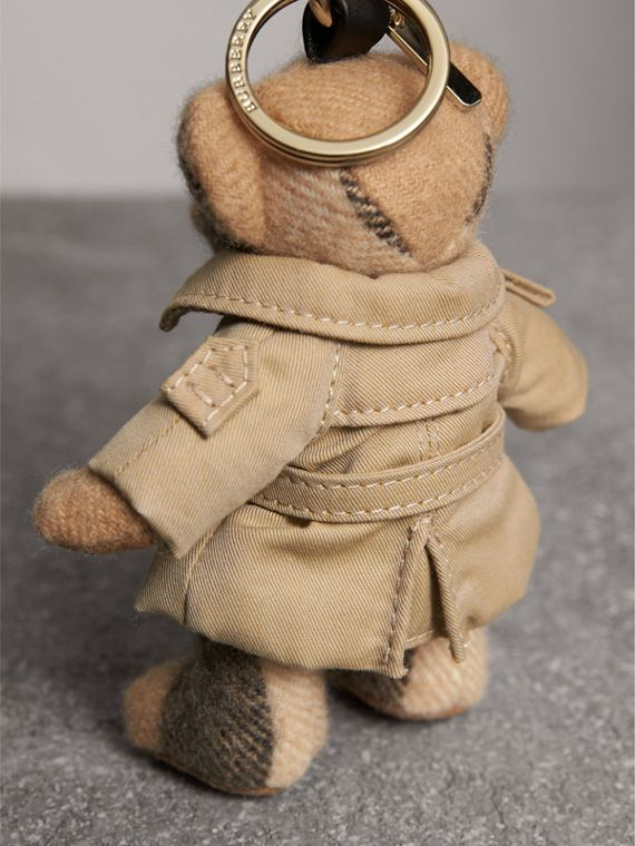 Thomas Bear Charm in Trench Coat in Camel | Burberry Australia - cell image 3