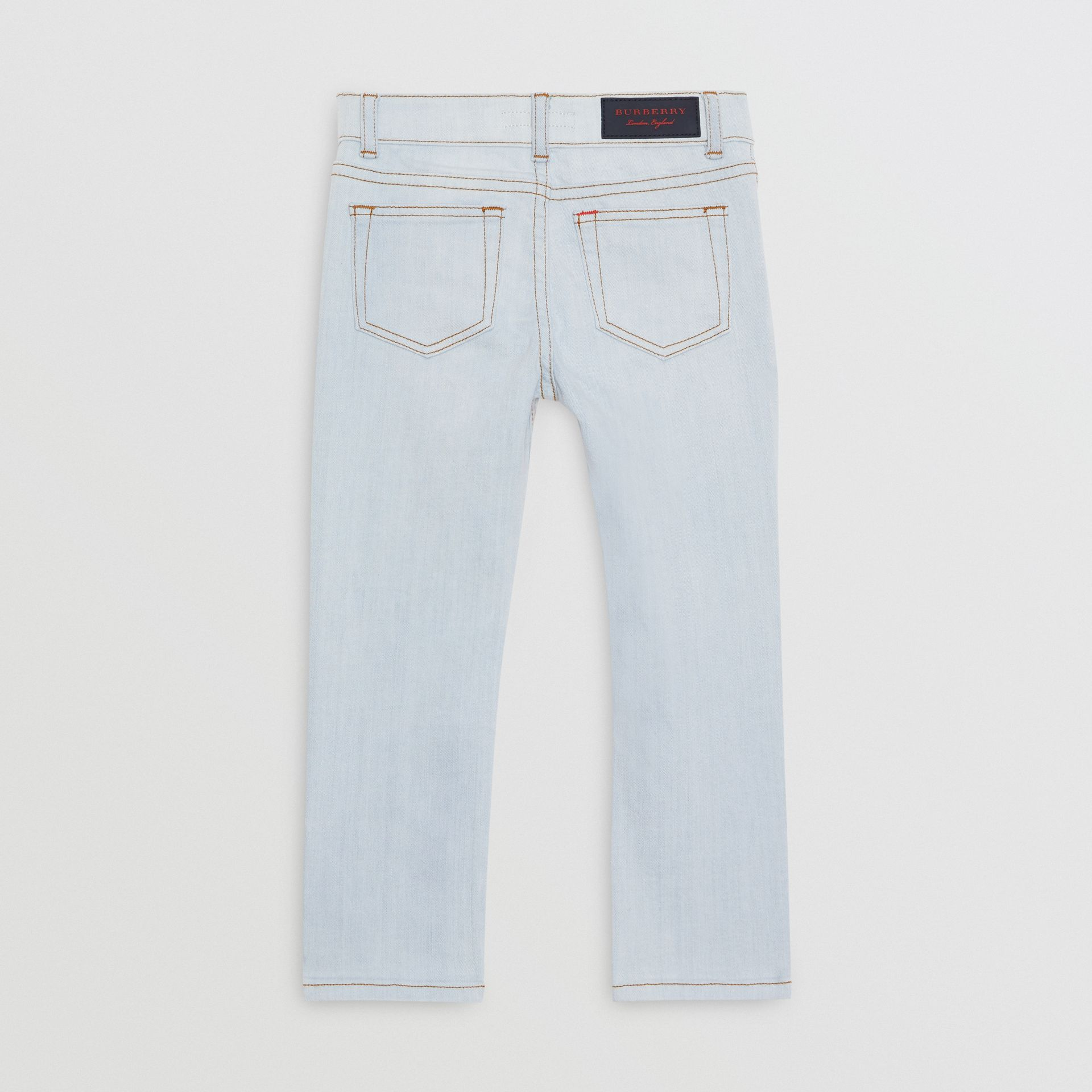 Skinny Fit Stretch Jeans in Light Blue - Boy | Burberry Canada - gallery image 3