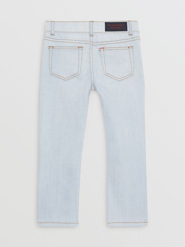 Skinny Fit Stretch Jeans in Light Blue - Boy | Burberry - cell image 3