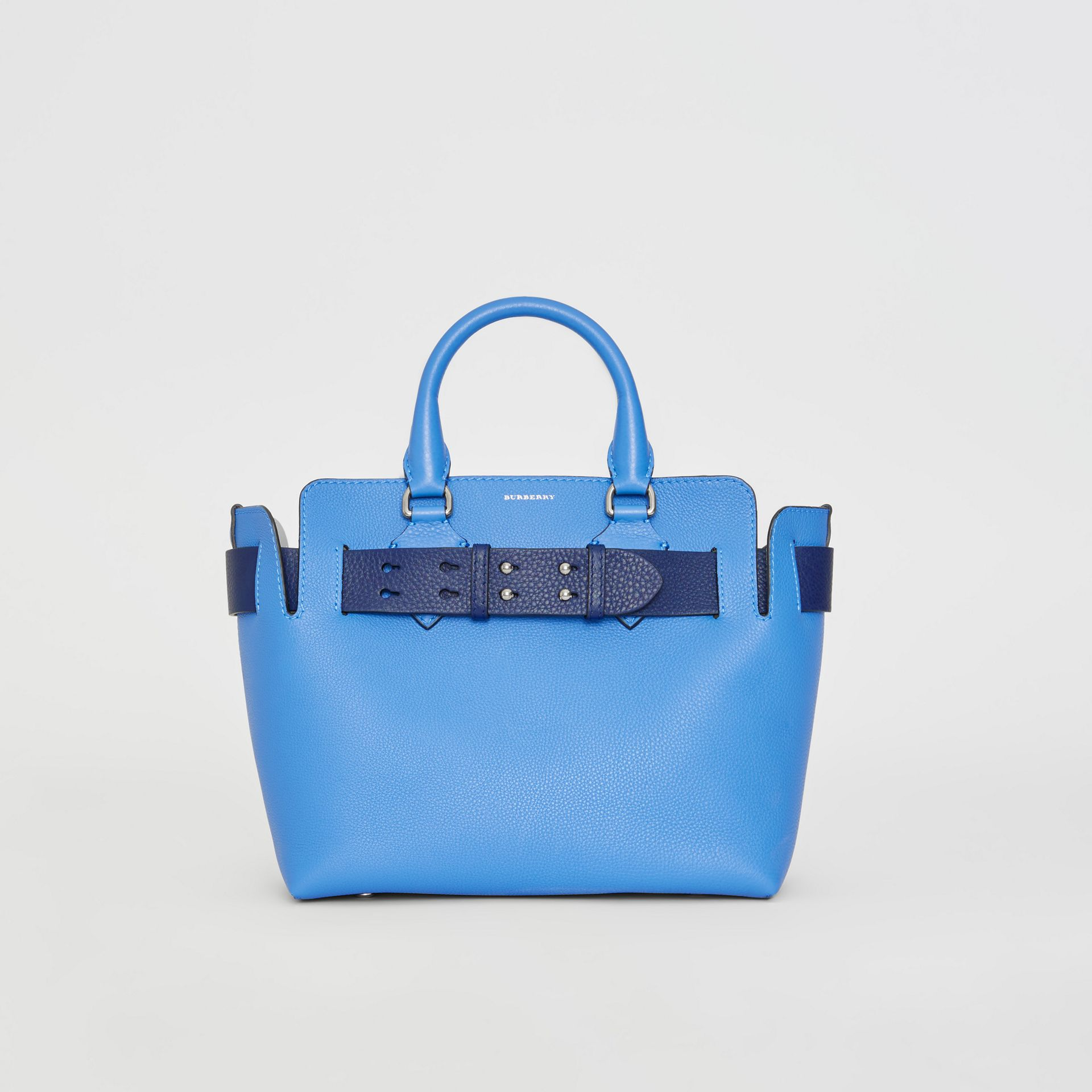 Borsa The Belt piccola in pelle (Blu Ortensia) - Donna | Burberry - immagine della galleria 0
