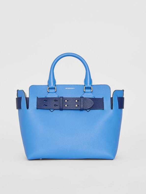 The Small Leather Belt Bag in Hydrangea Blue