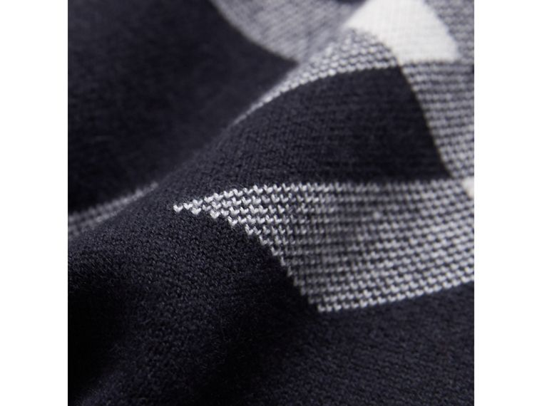 Check Cotton Cashmere Two-piece Gift Set in Navy | Burberry Canada - cell image 1