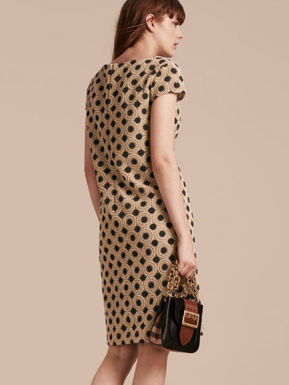 Nude/black Online Exclusive Swiss Lace Shift Dress Nude/black - cell image 2
