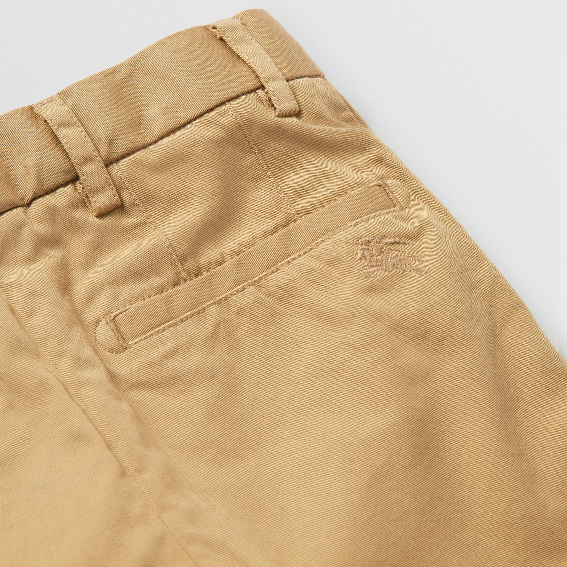 Cotton Chino Shorts in Taupe | Burberry - gallery image 1