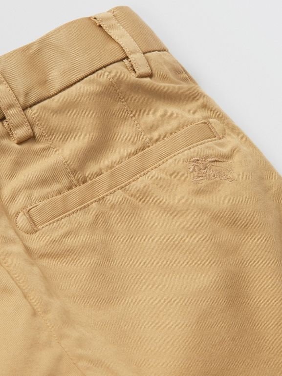 Cotton Chino Shorts in Taupe - Children | Burberry - cell image 1