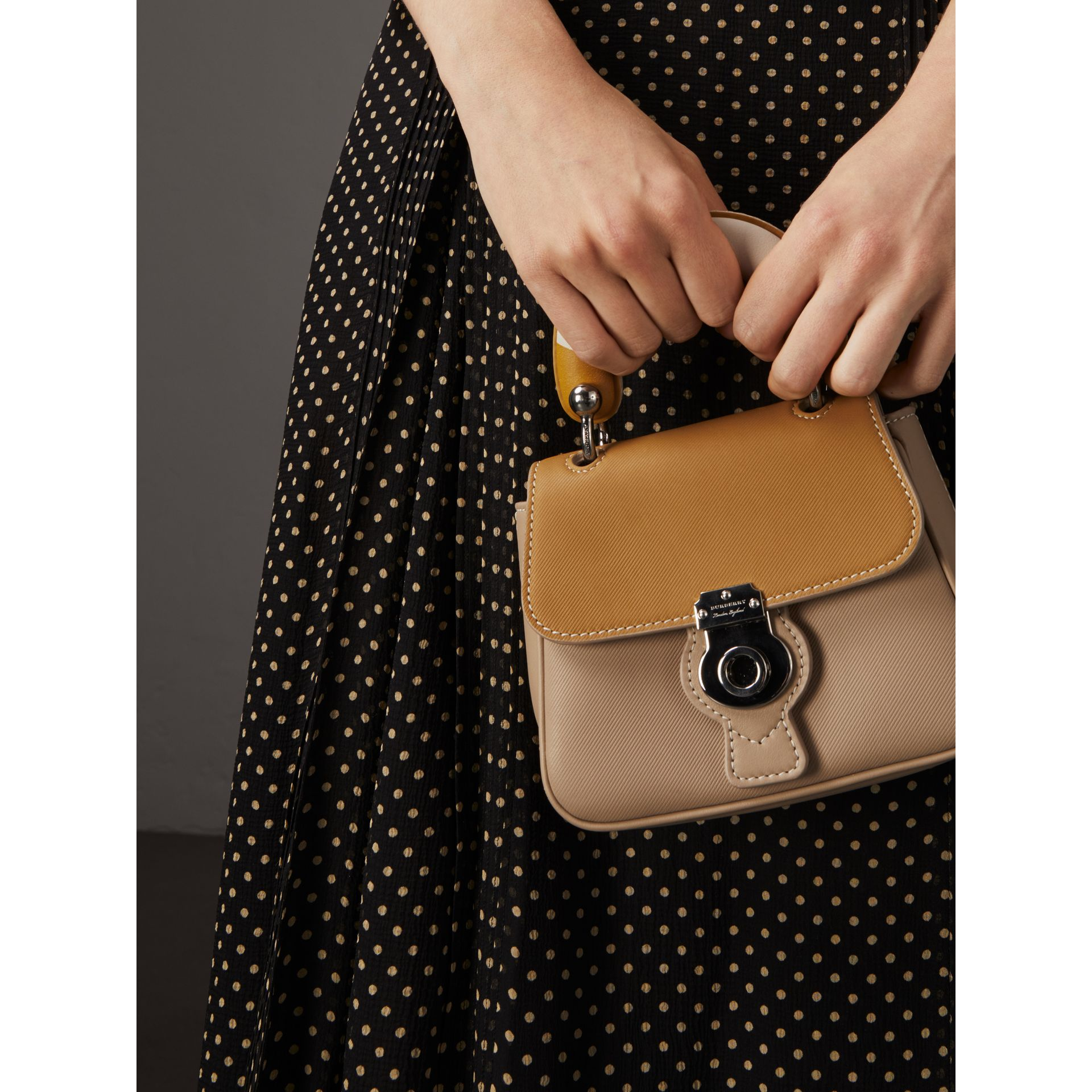 The Mini DK88 Top Handle Bag with Geometric Print in Honey/ochre Yellow - Women | Burberry - gallery image 3