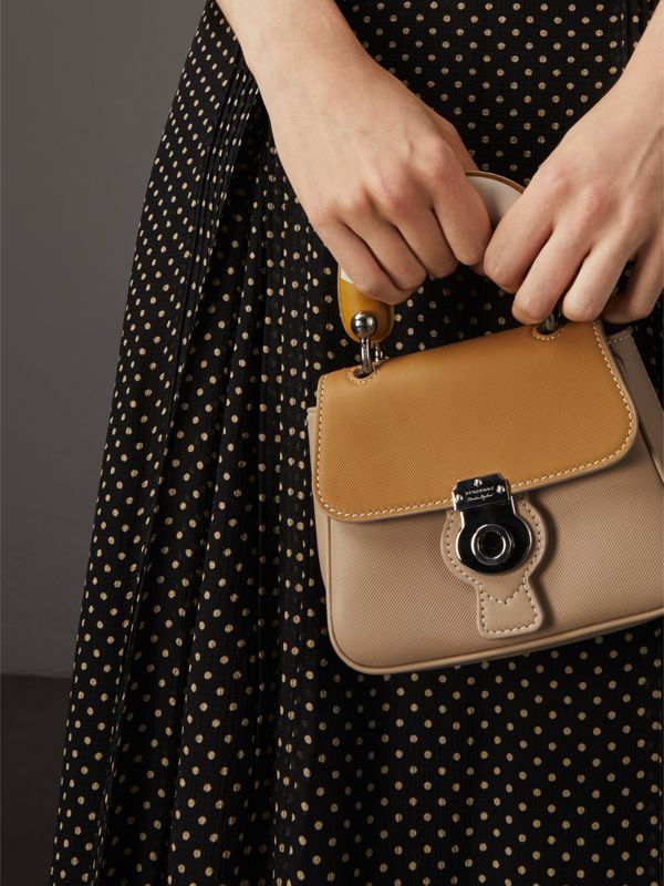 The Mini DK88 Top Handle Bag with Geometric Print in Honey/ochre Yellow - Women | Burberry - cell image 3