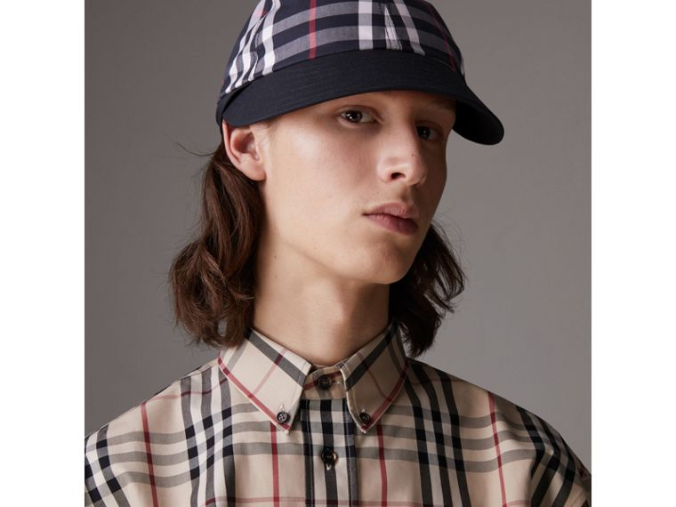 Gosha x Burberry Baseball Cap in Navy | Burberry Australia - cell image 4