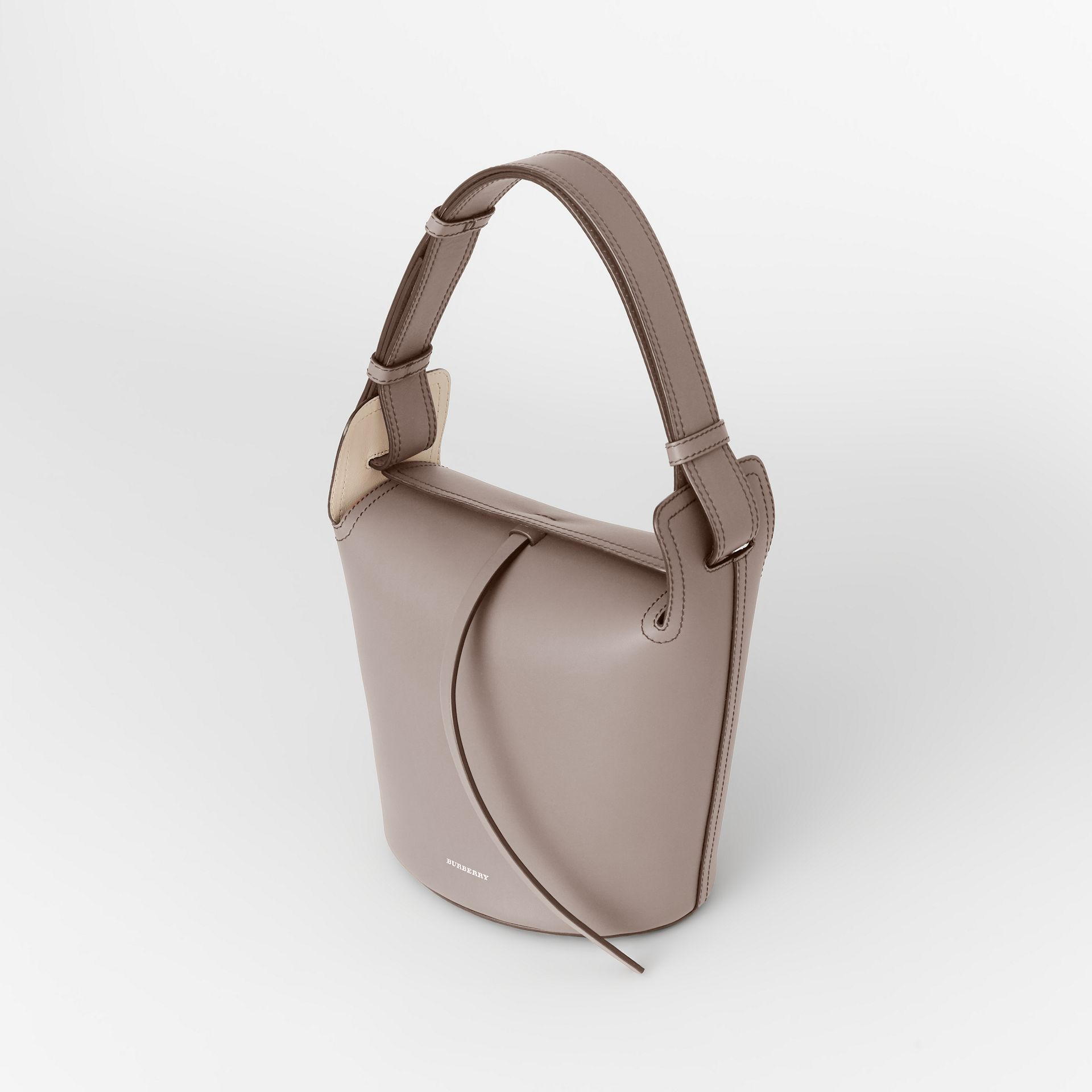 The Small Leather Bucket Bag in Taupe Brown - Women | Burberry - gallery image 2