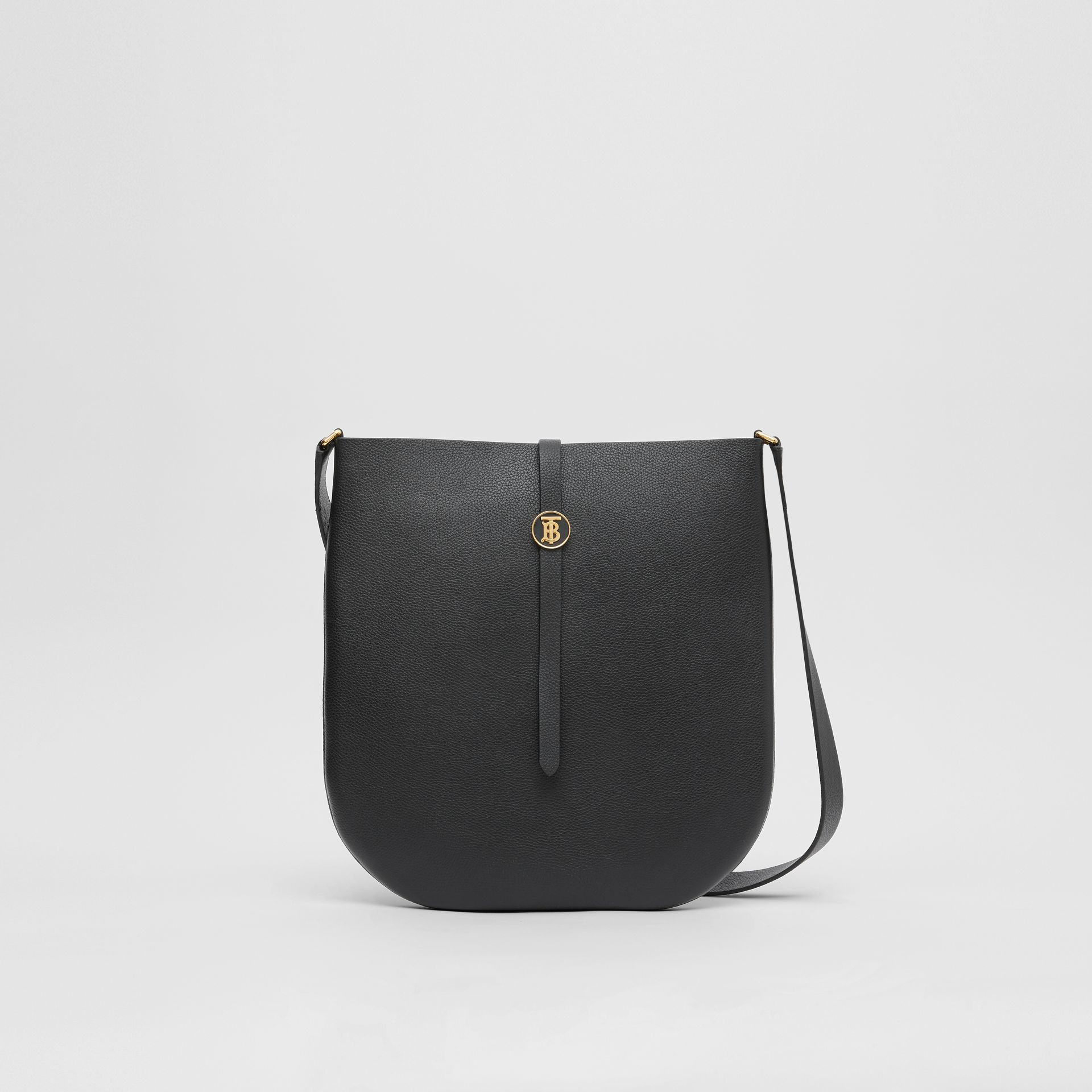 Grainy Leather Anne Bag in Black - Women | Burberry - gallery image 0