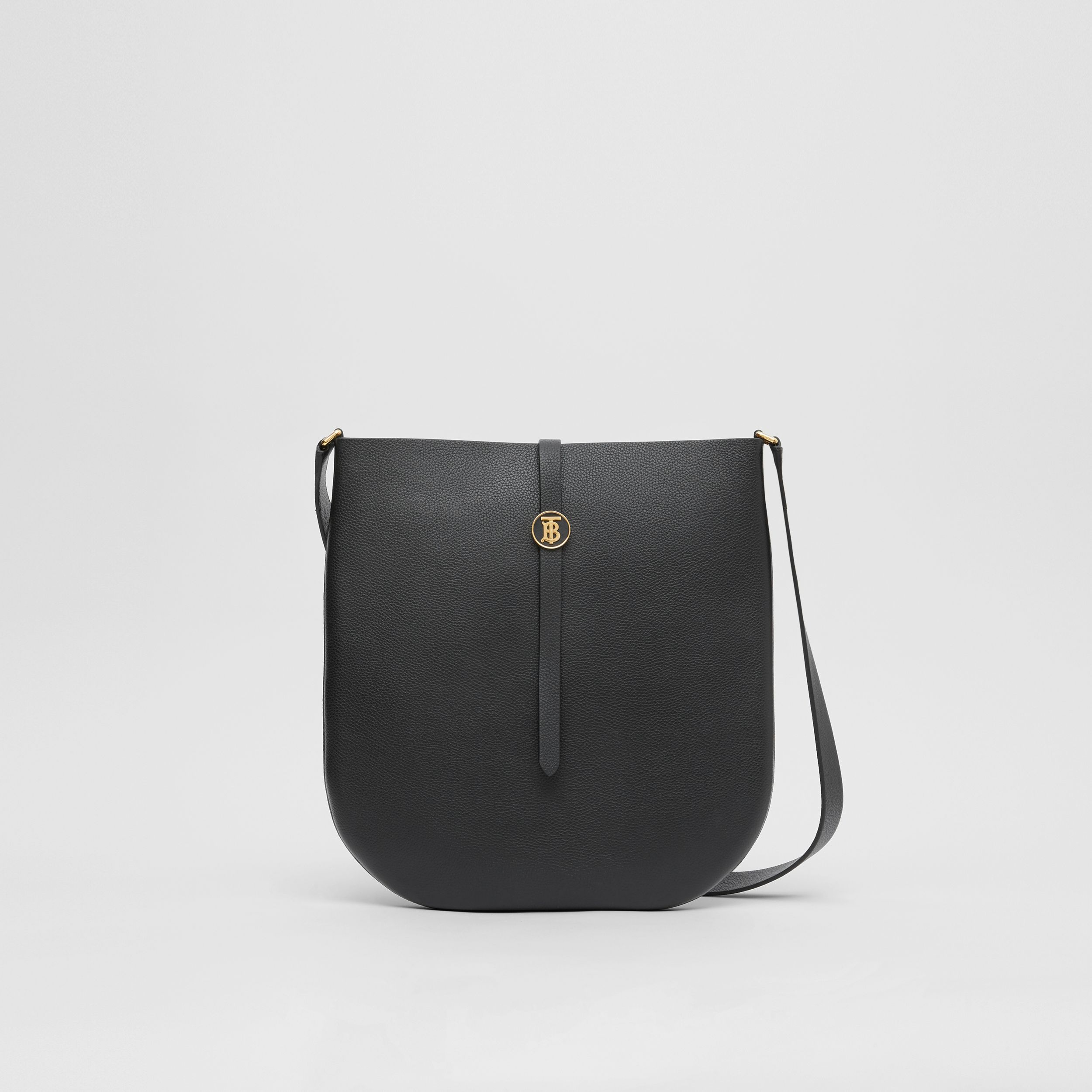 Grainy Leather Anne Bag in Black - Women | Burberry United Kingdom - 1