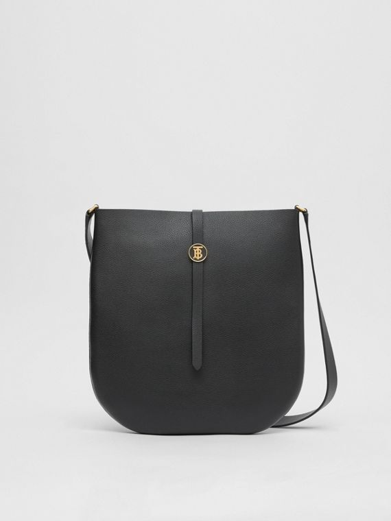 Grainy Leather Anne Bag in Black
