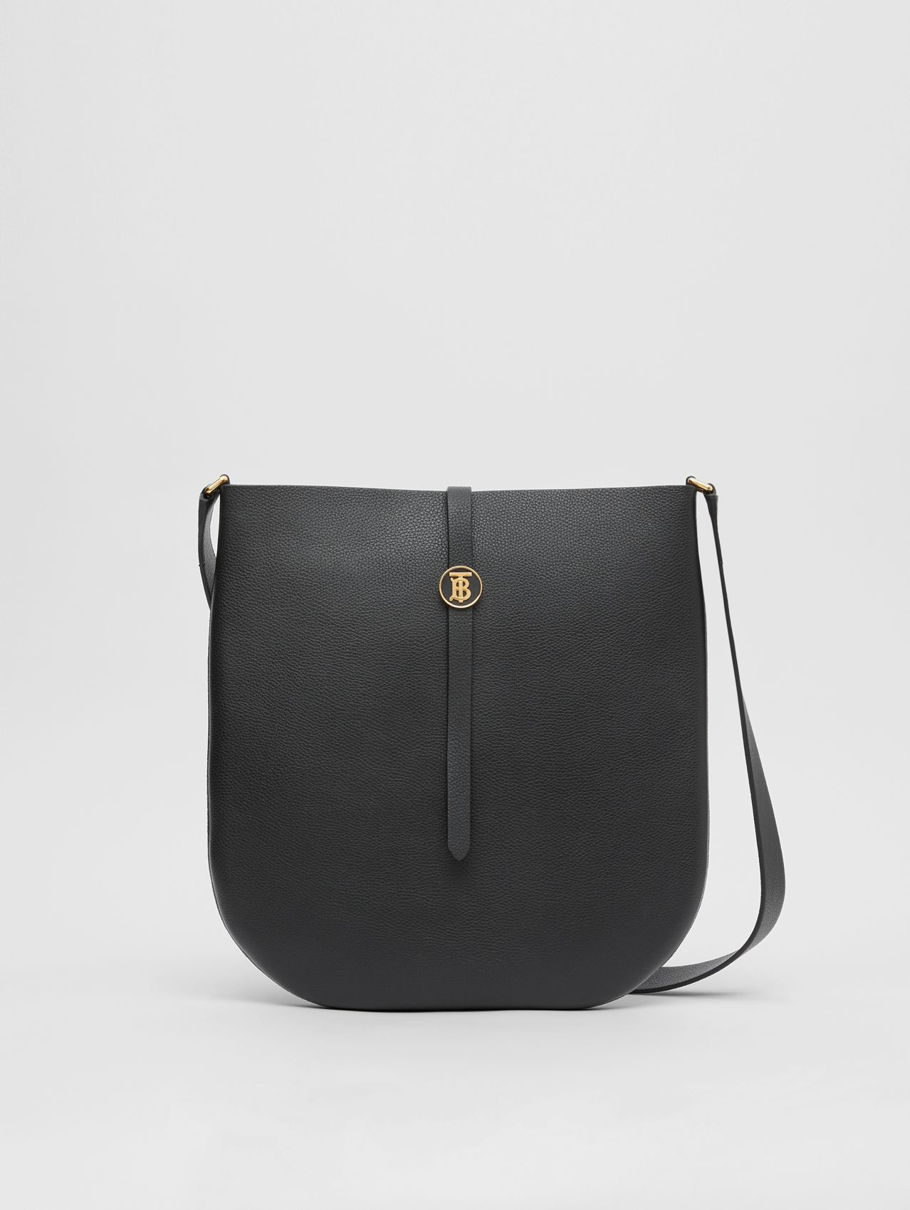 Grainy Leather Anne Bag (Black)