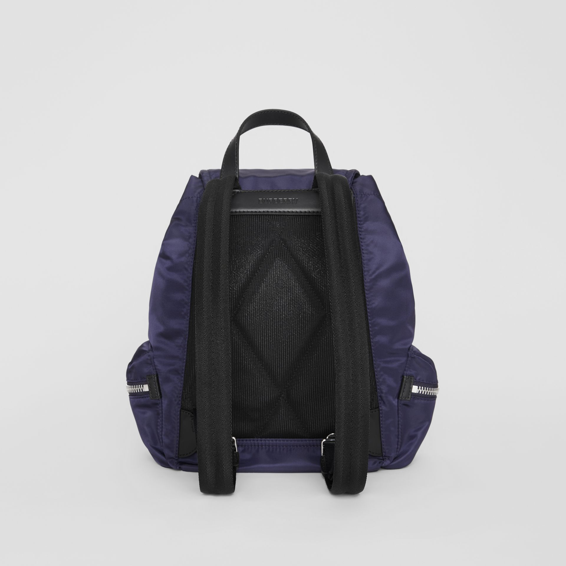 The Medium Rucksack in Logo Print Nylon in Navy Blue - Women | Burberry - gallery image 7