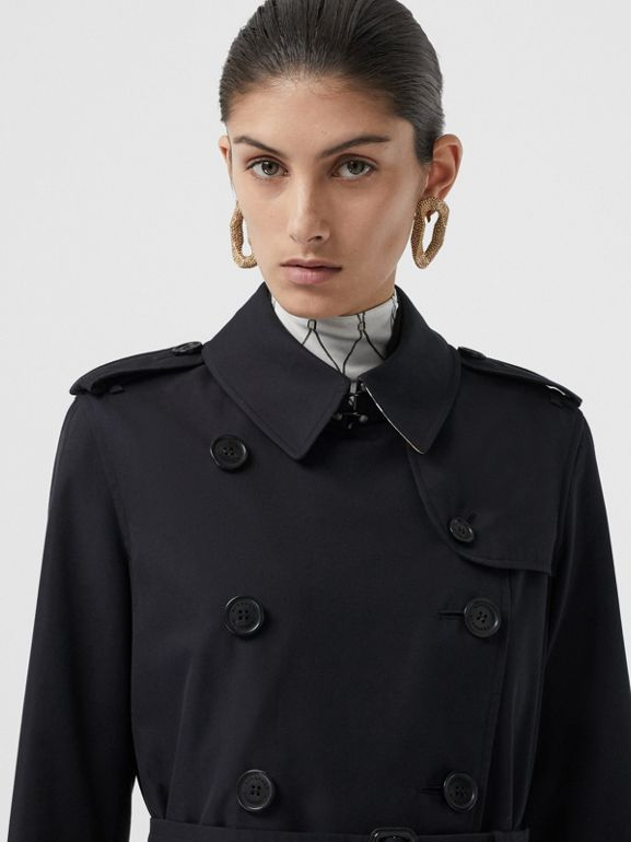 The Long Kensington Heritage Trench Coat in Midnight - Women | Burberry - cell image 1