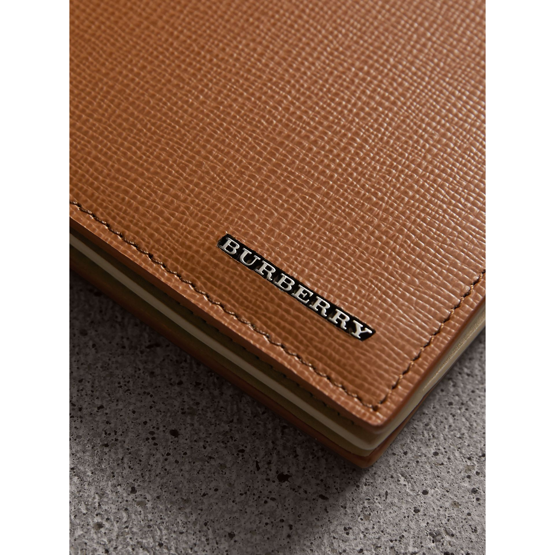 Leather International Bifold ID Coin Wallet in Tan | Burberry Canada - gallery image 2