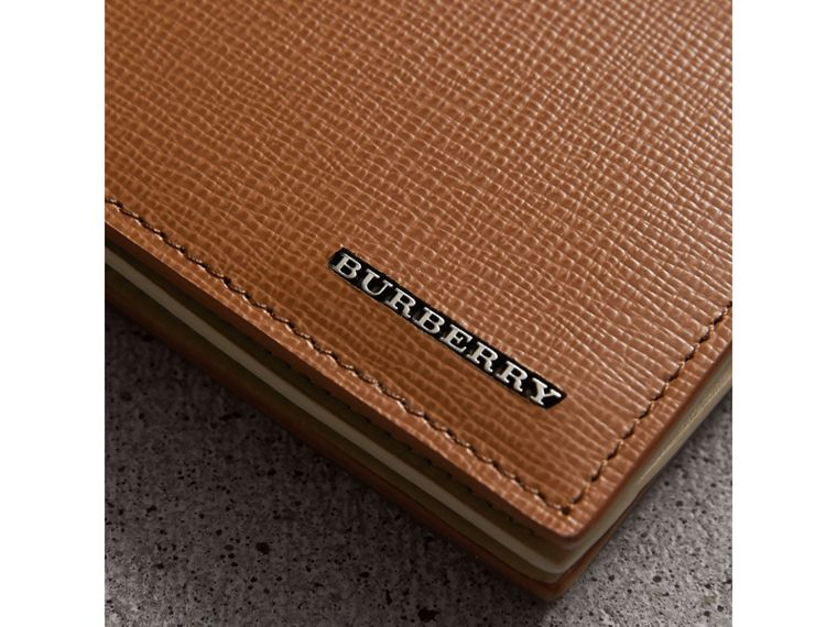 Leather International Bifold ID Coin Wallet in Tan | Burberry Canada - cell image 1