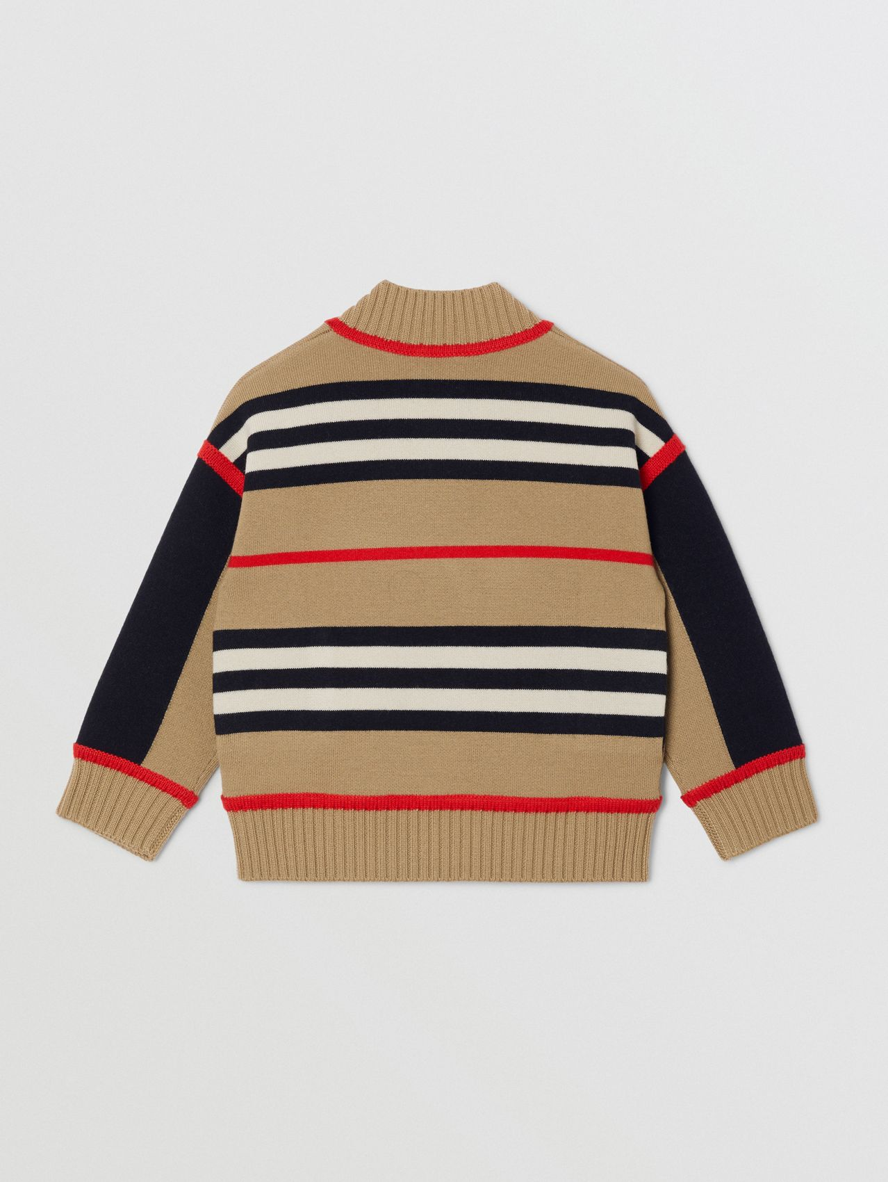 Icon Stripe Wool Cashmere Blend Cardigan