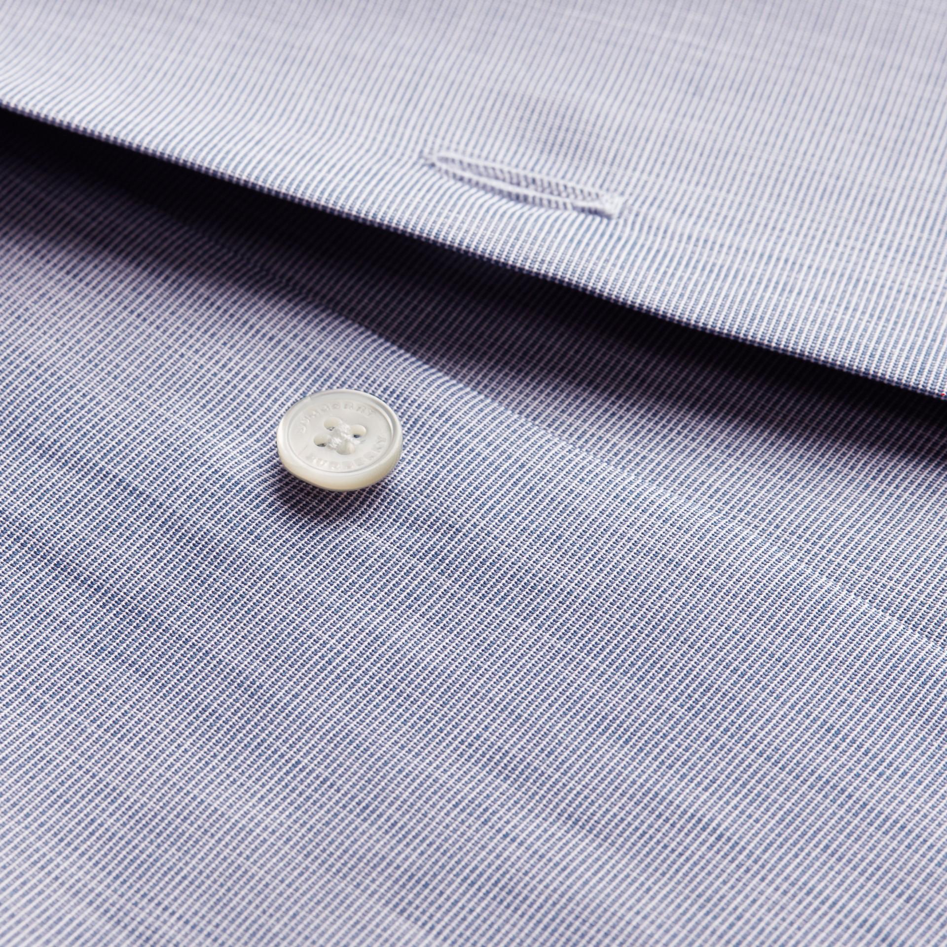 Light blue Camisa de mescla de algodão Light Blue - galeria de imagens 2