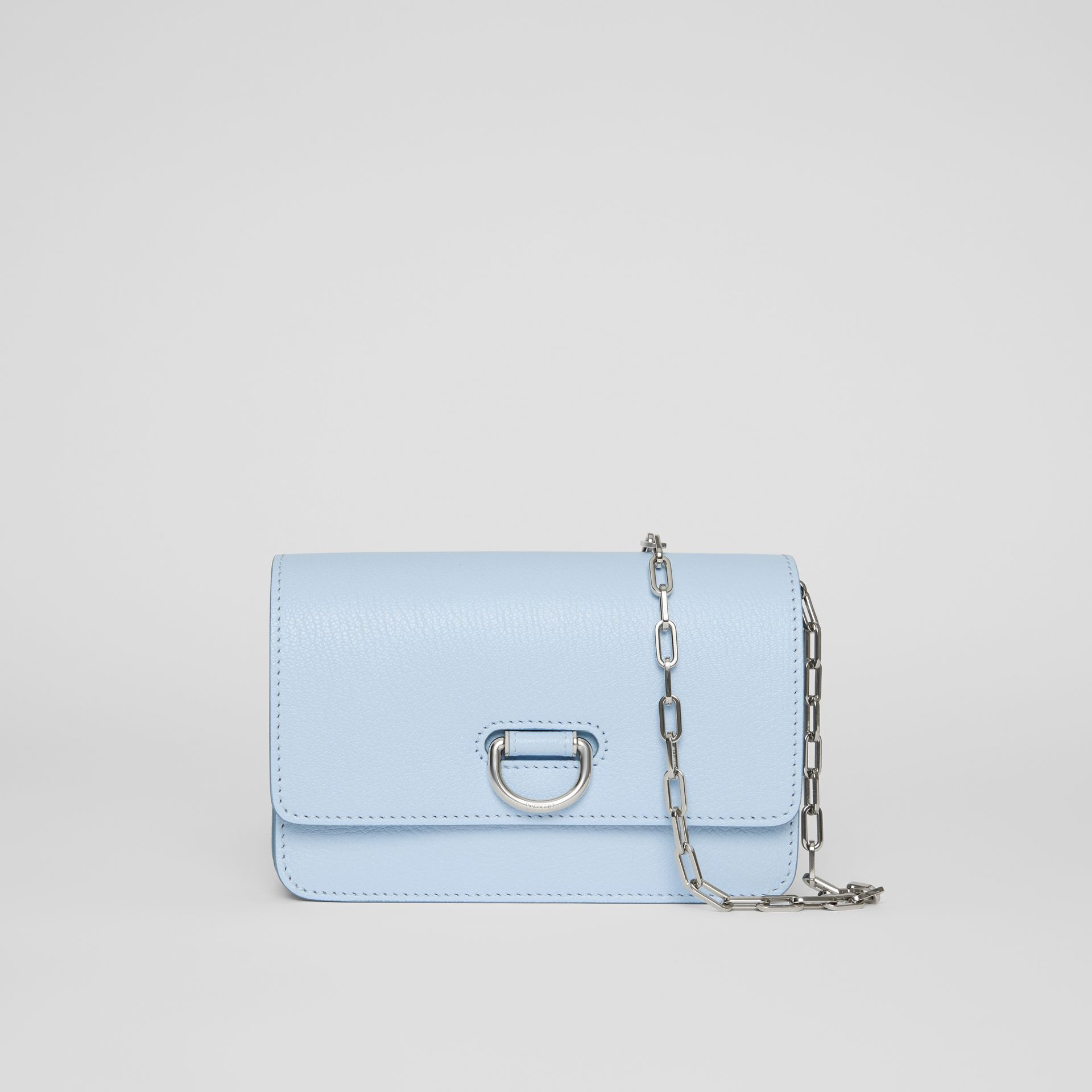 The Mini Leather D-ring Bag in Pale Blue - Women | Burberry United Kingdom - gallery image 0